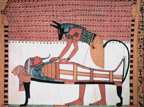 schakalkoepfiger ägyptischer gott