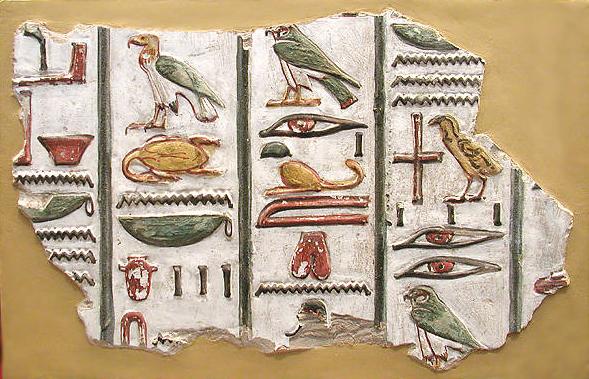 hieroglyphen text schreiben