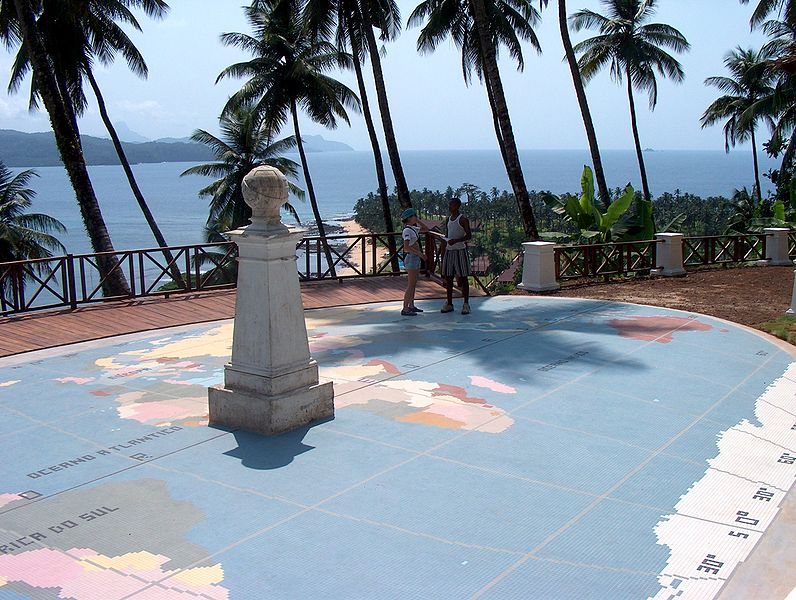 Äquatormonument in Sao Tome