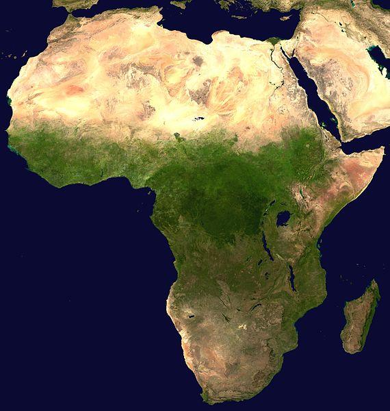 Der afrikanische Kontinent - vom Sateliten aus gesehen