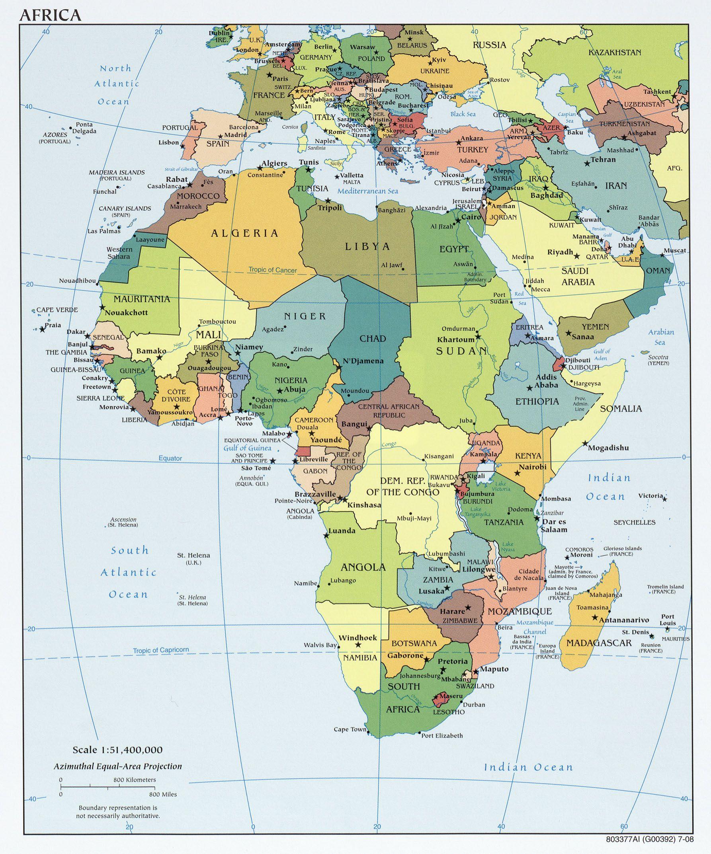africa_pol_2008_texas_university.jpg Länder Afrikas
