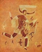 Weisse Dame von Ahahouret-afrikanische Felszeichnung