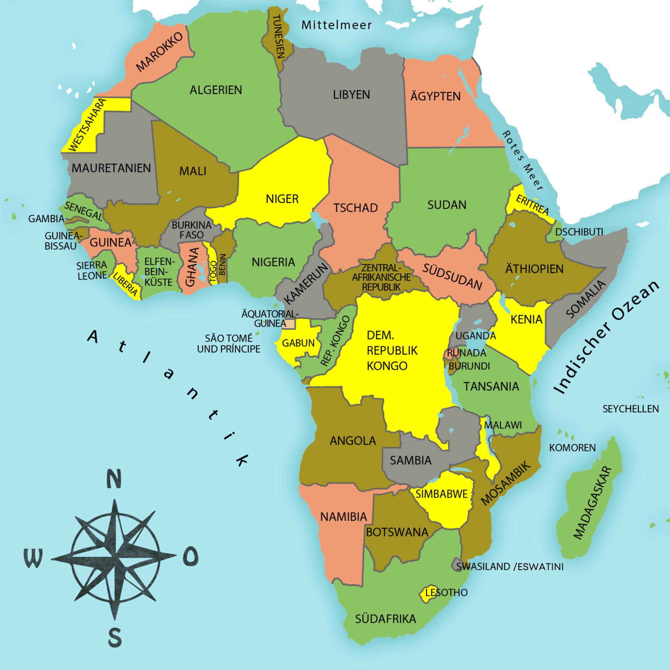 Afrika Karte Deutsch.Afrika Junior Afrika Der Bunte Kontinent