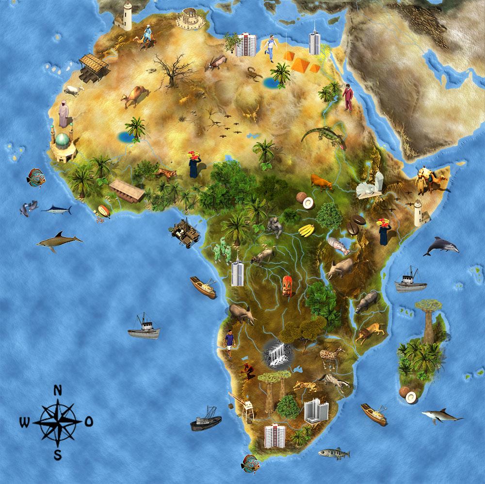 Südafrika Karte Sehenswürdigkeiten.Afrika Junior Südafrika