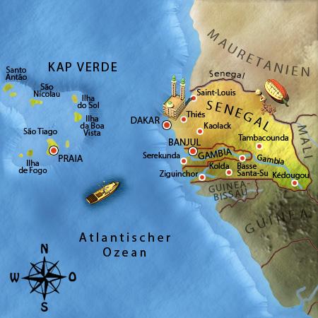 Wo Liegt Kapverden Karte.Afrika Junior Senegal