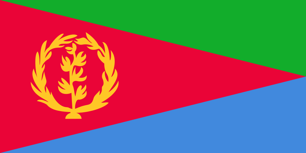 Flagge von Eritrea (c) Open ClipArt CC0