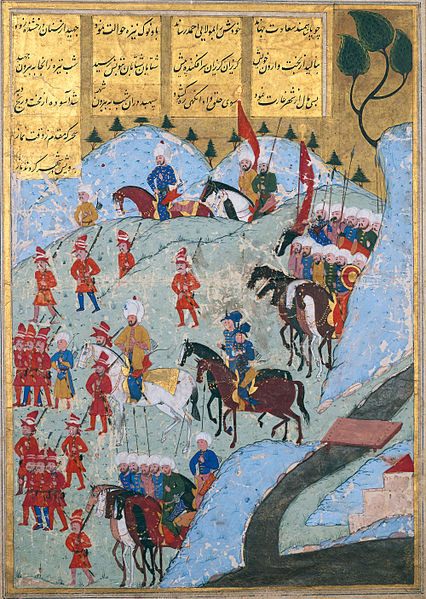 Ottoman_Army_Marching_On_The_City_Of_Tunis_In_1569_Sehnam-i_Selim_Han_by_Lokman