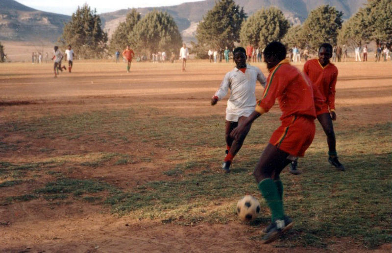 Fußballspieler vom Roma Rovers Club in Lesotho