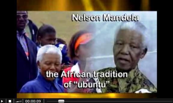 Nelson Mandela in einem Interview über Ubuntu (c) wikicommons